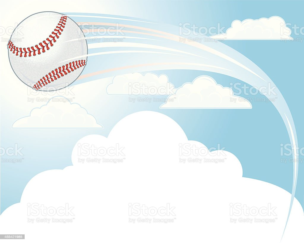 Baseball Background - Hit Out of the Park Background vector art illustration