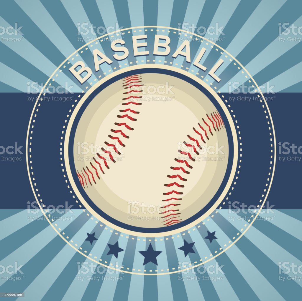 Baseball background vector art illustration