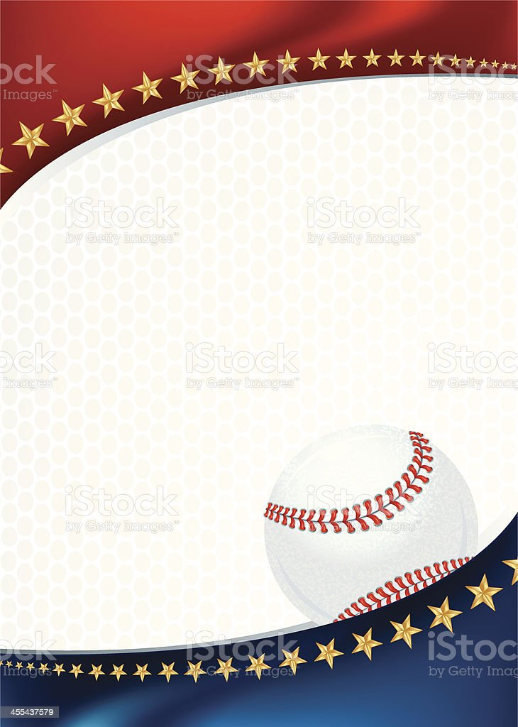 Baseball Background with Stars royalty-free stock vector art