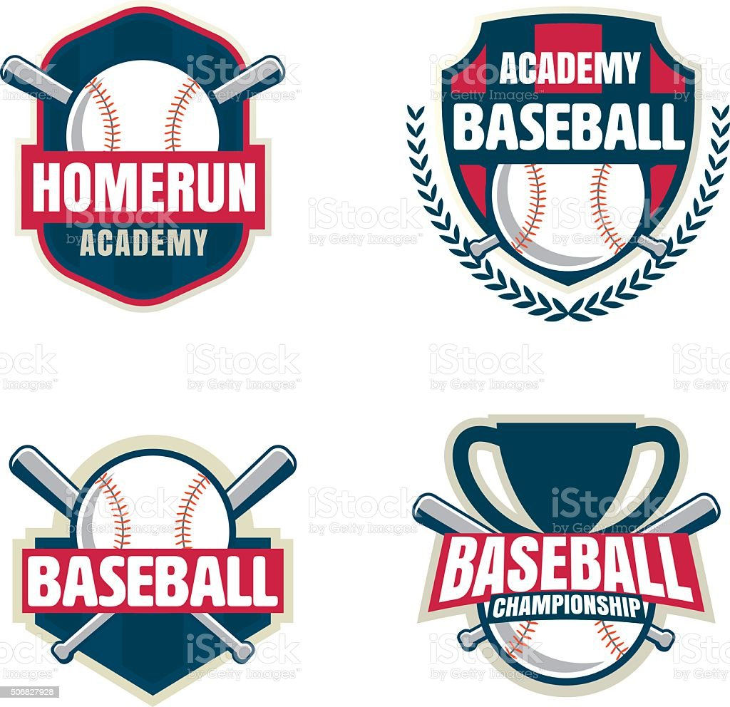 Baseball badge set,sport logo collection,team identity,vector il vector art illustration