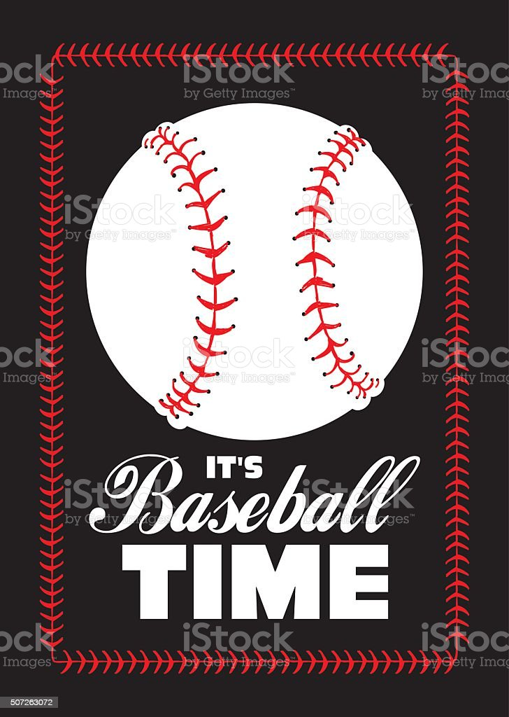 baseball ball and quote poster vector art illustration