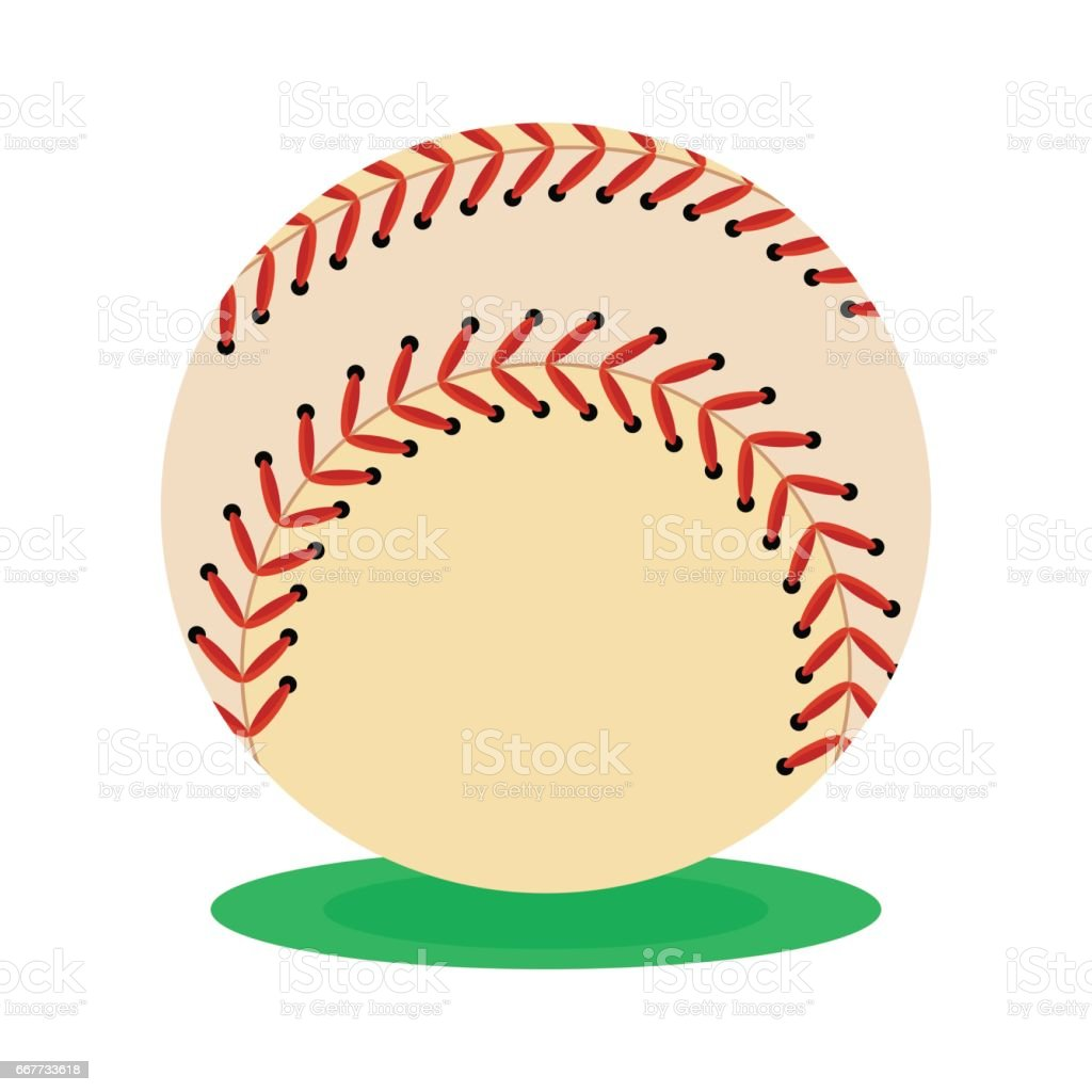 Baseball ball icon. Flat vector cartoon illustration. Objects...
