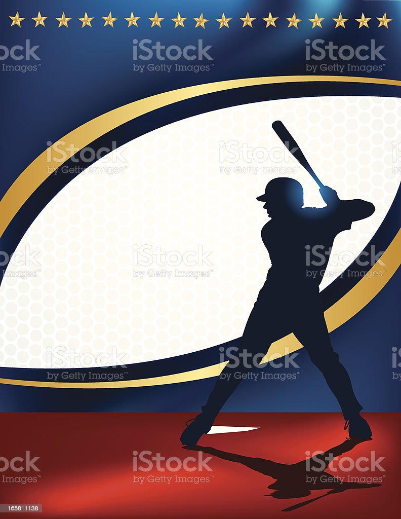 Baseball Batter - At Bat Background vector art illustration