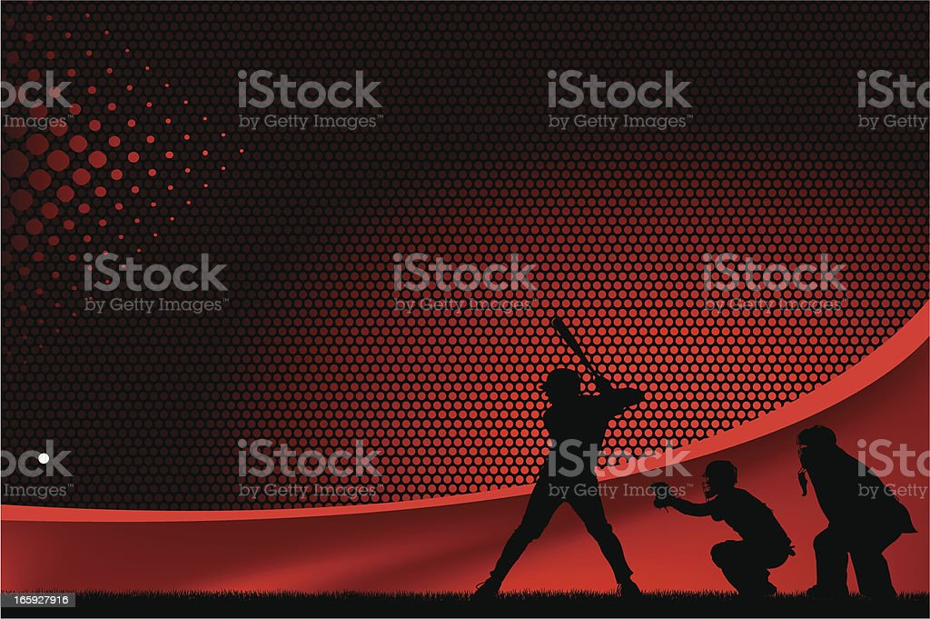 Baseball Batter Background Graphic vector art illustration