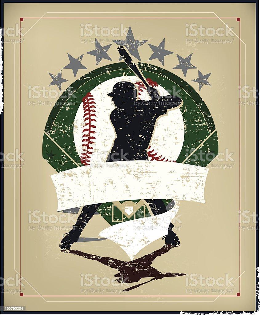 Baseball Batter Banner Background royalty-free stock vector art