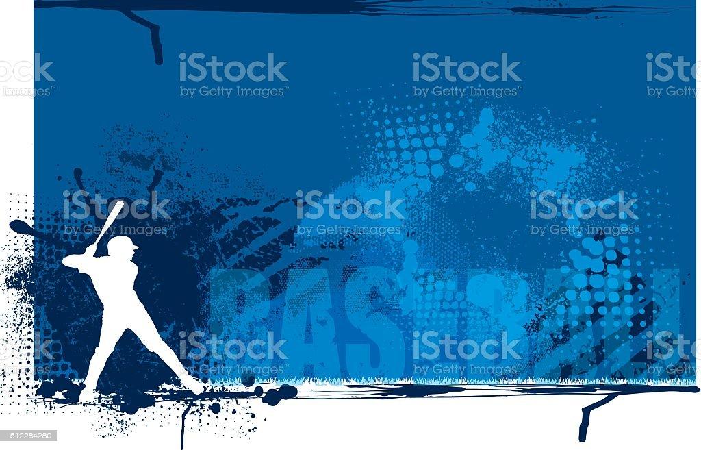 Baseball Batter Team Sports Background vector art illustration