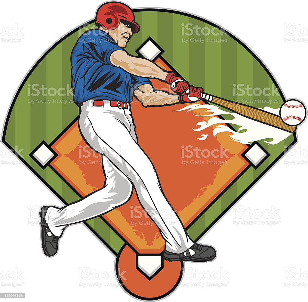 Baseball Batter royalty-free stock vector art