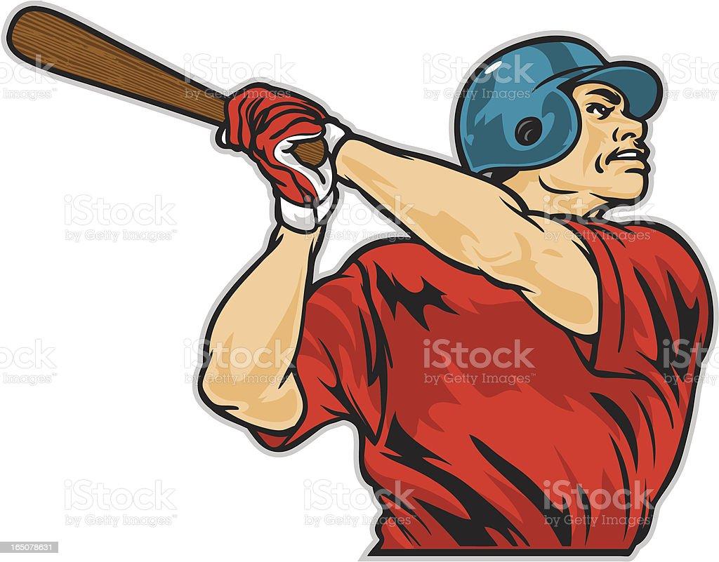 Baseball Batter royalty-free stock vector art