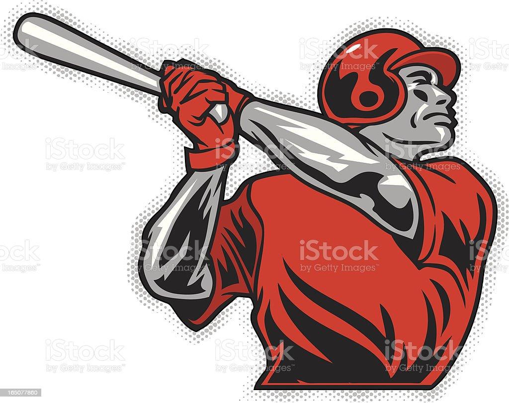 Baseball Batter2 royalty-free stock vector art
