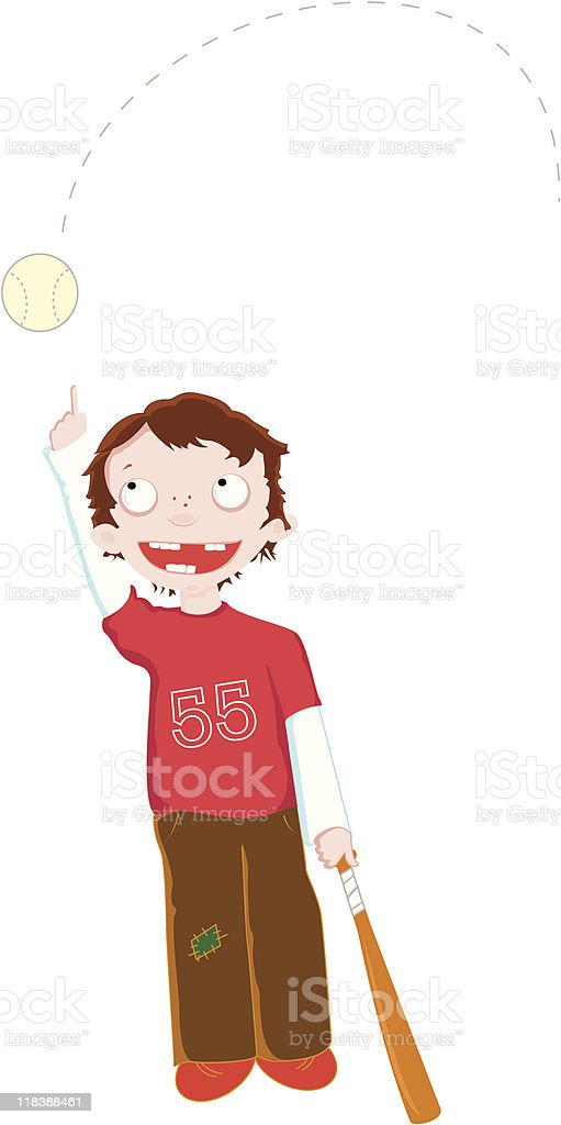 baseball boy royalty-free stock vector art