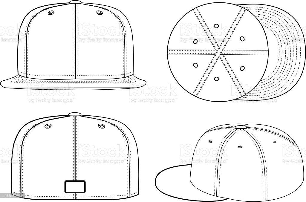 Baseball Cap royalty-free stock vector art