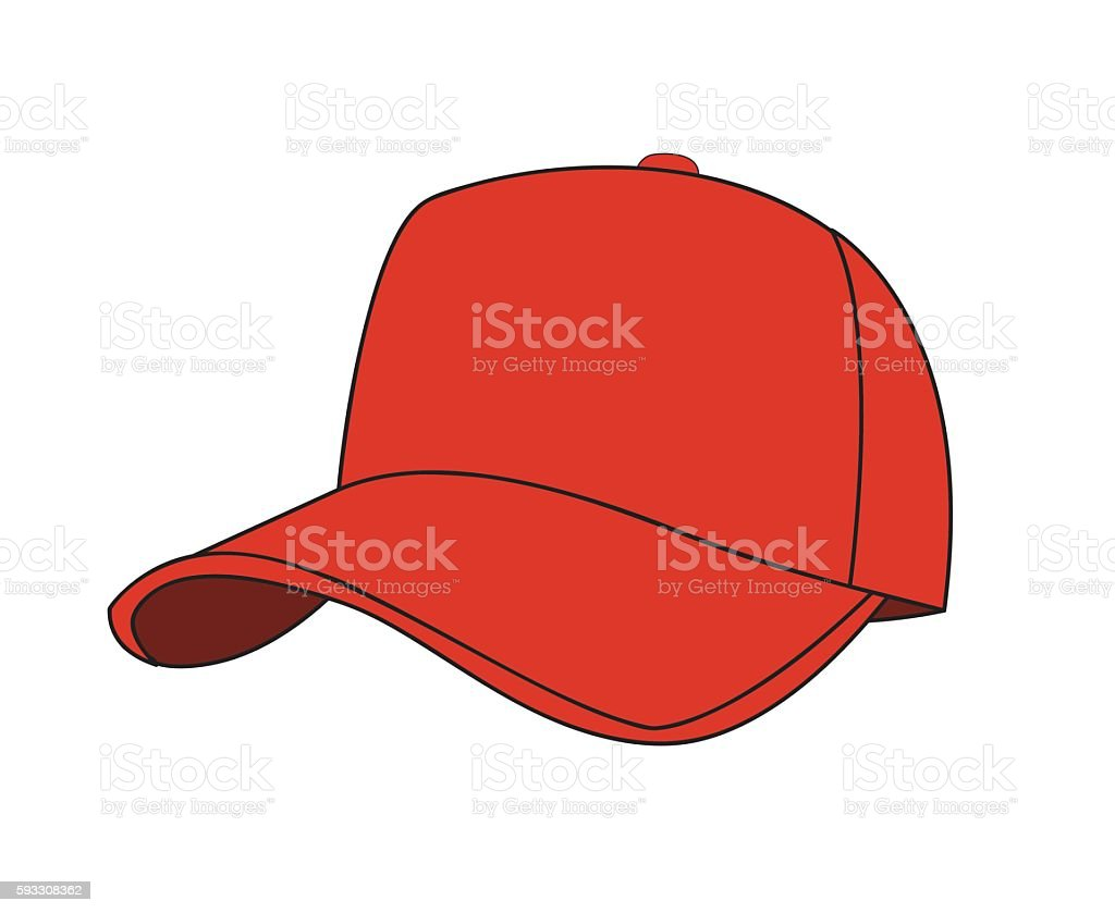 baseball cap vector art illustration
