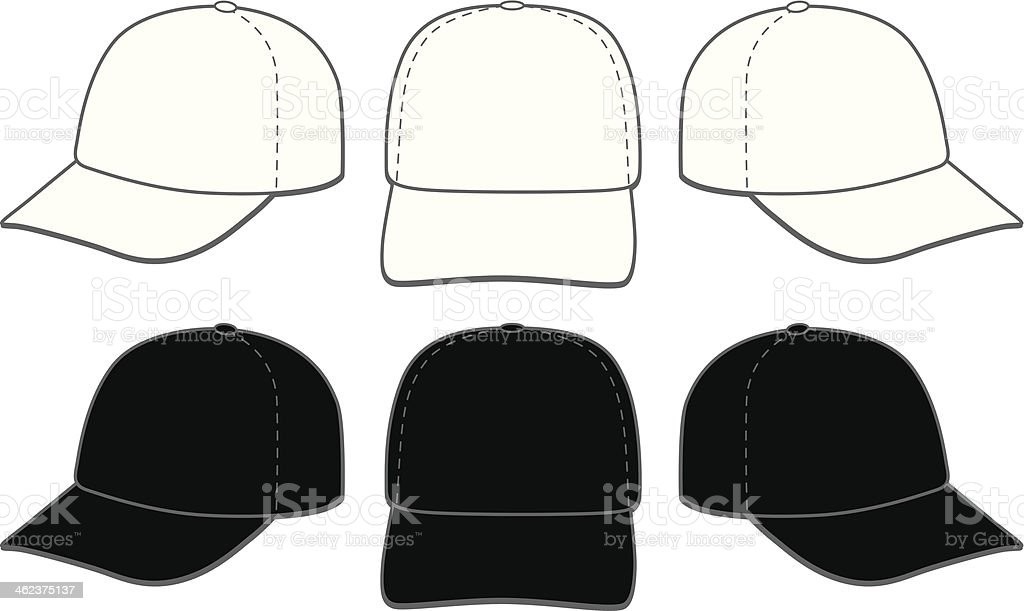 Baseball Caps vector art illustration