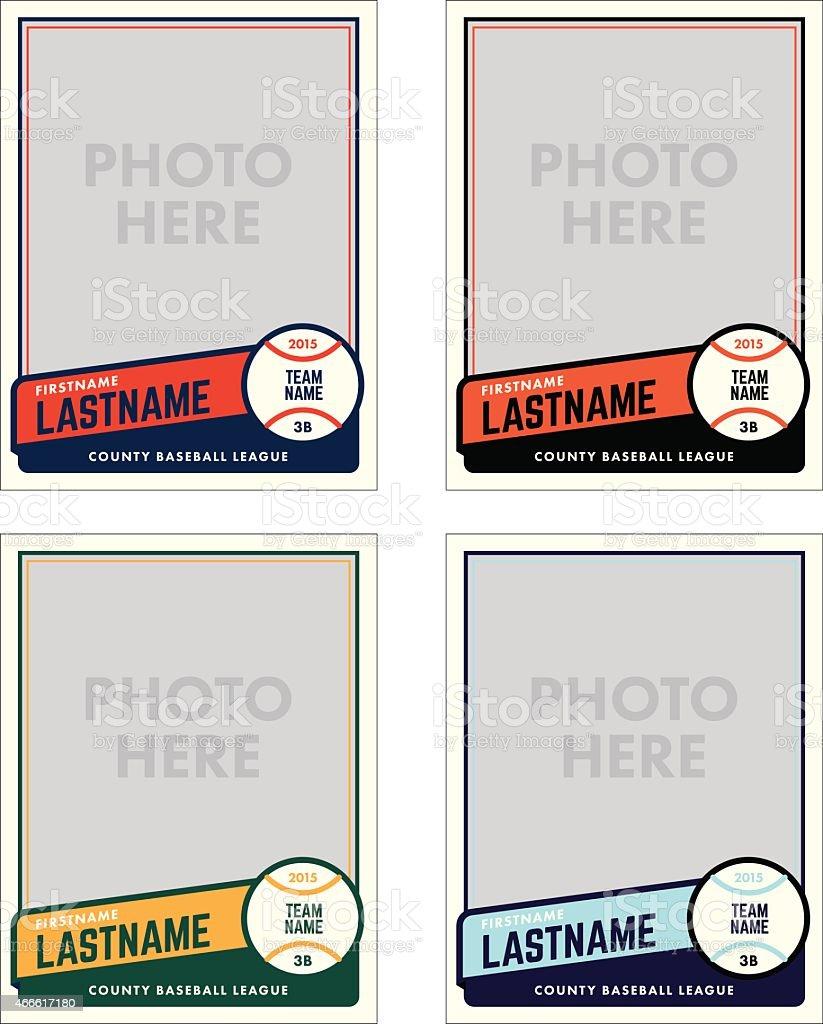 Baseball Card Vector Template vector art illustration