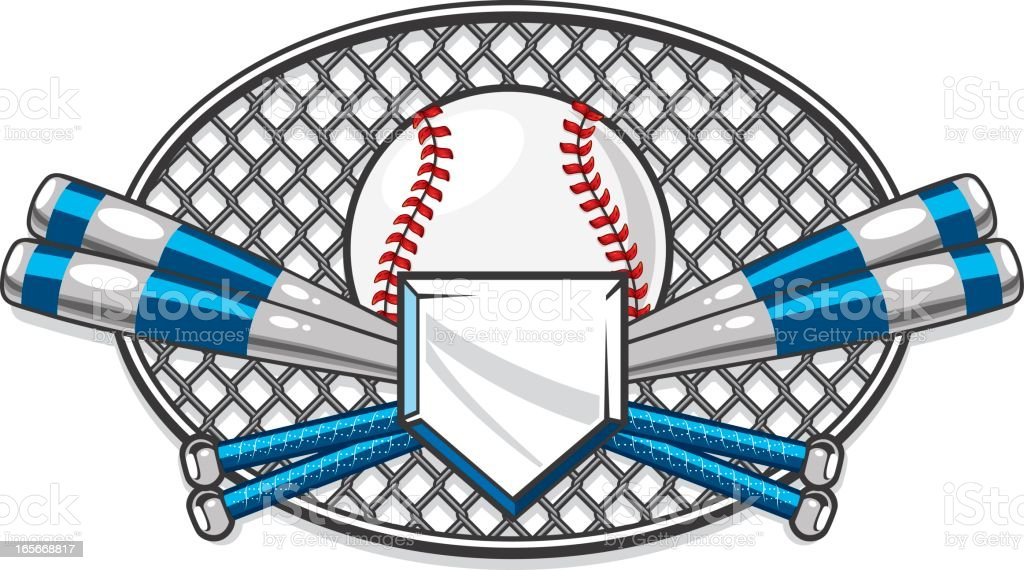 Baseball Chain Link Design royalty-free stock vector art