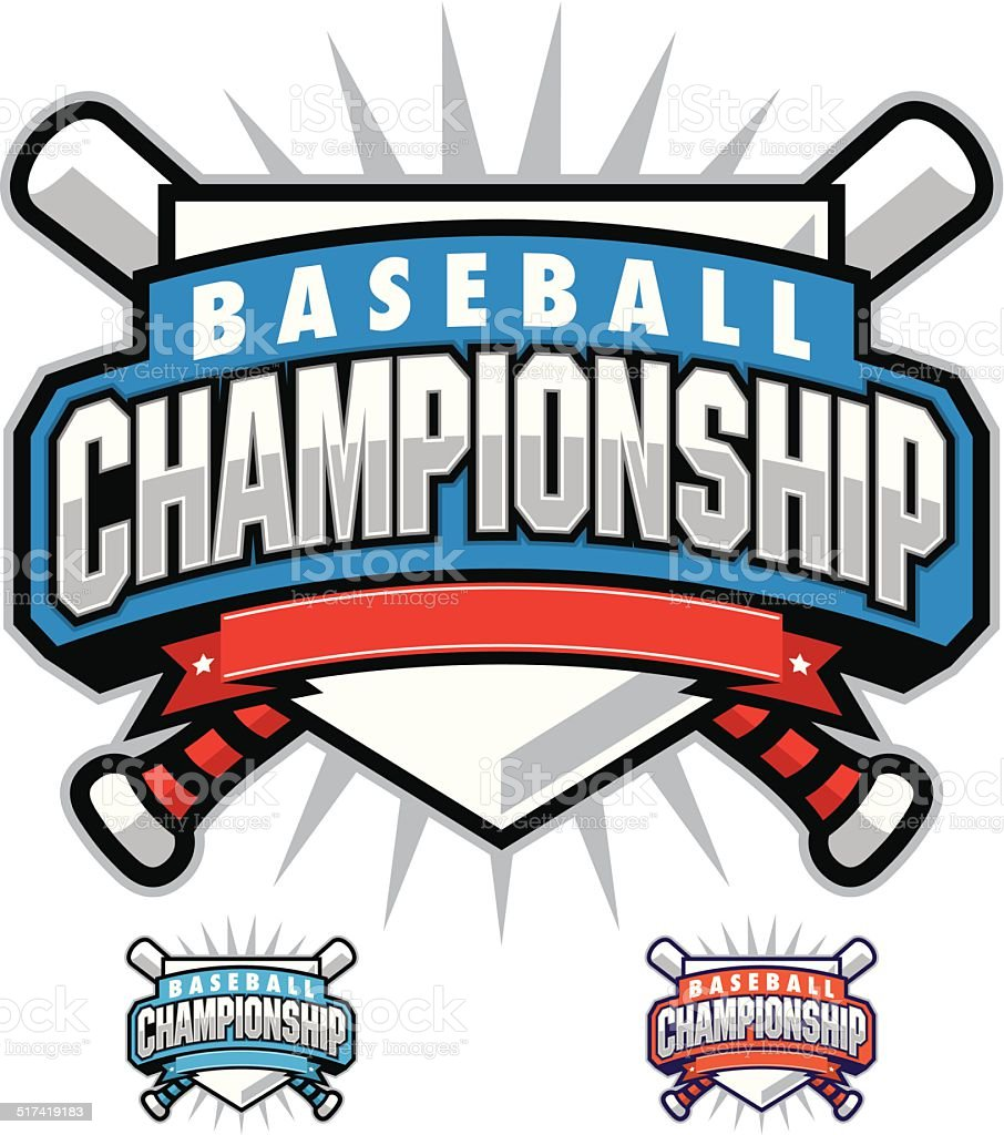 Baseball Championship Design vector art illustration