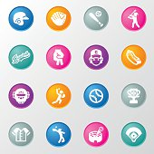 Baseball Circle Color Icons