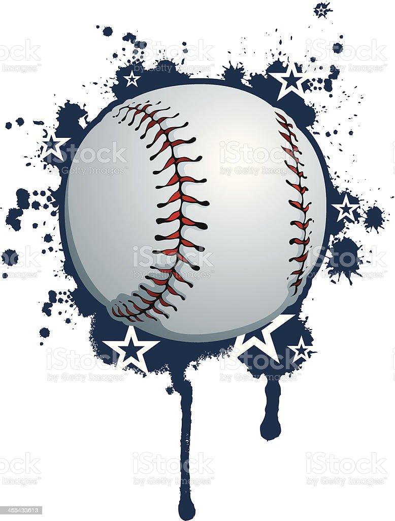 baseball composition royalty-free stock vector art
