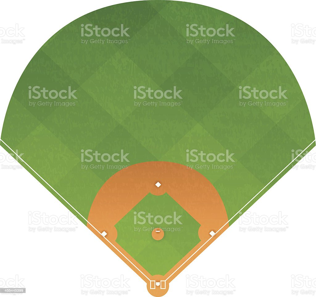 Baseball Diamond royalty-free stock vector art