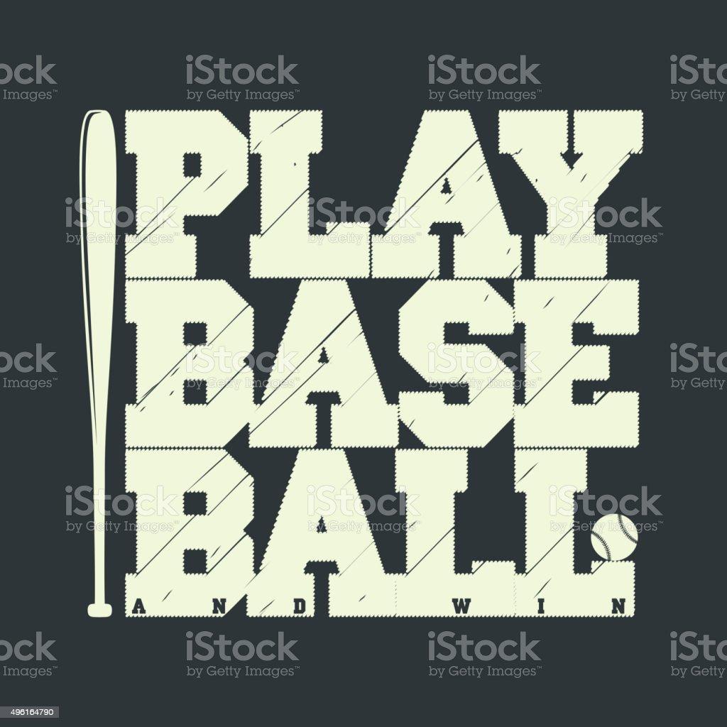 Baseball emblem for t-shirt vector art illustration