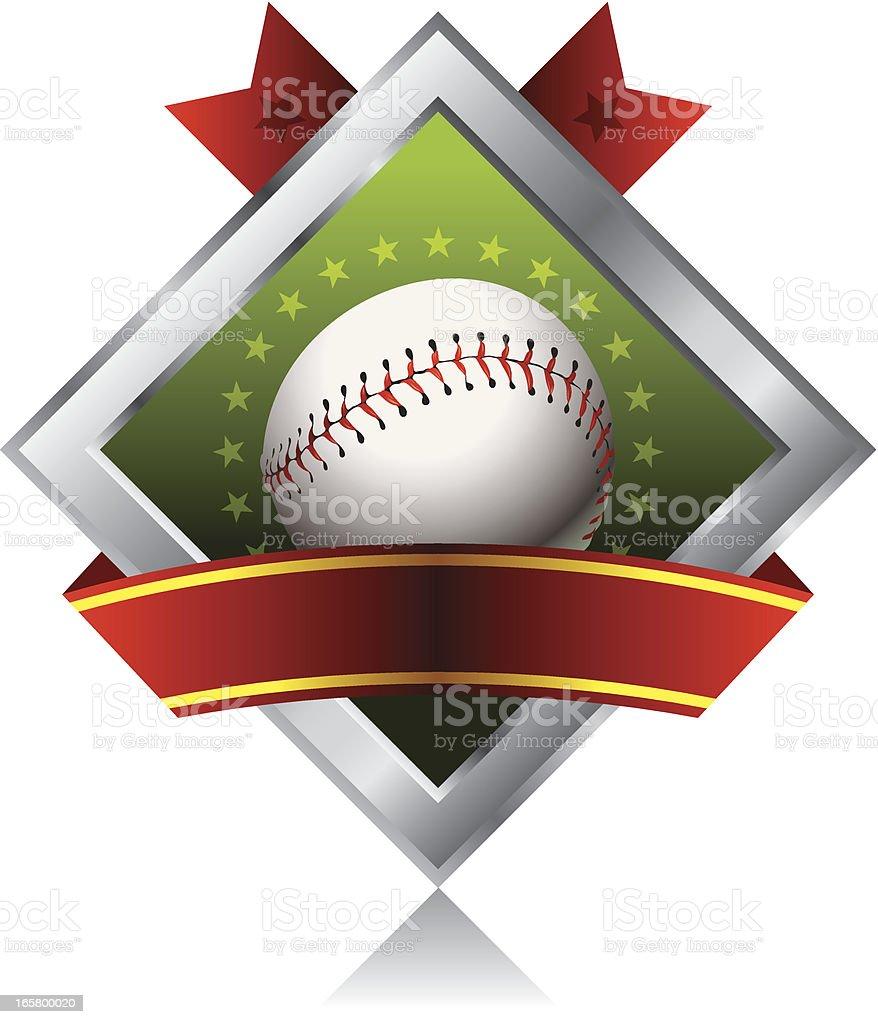 Baseball Emblem vector art illustration