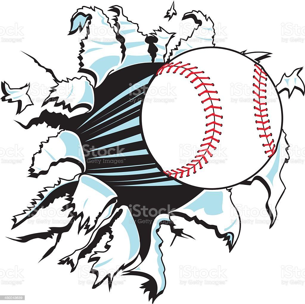 Baseball Explosion royalty-free stock vector art