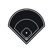 Baseball field black simple icon