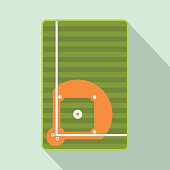 Baseball field flat icon