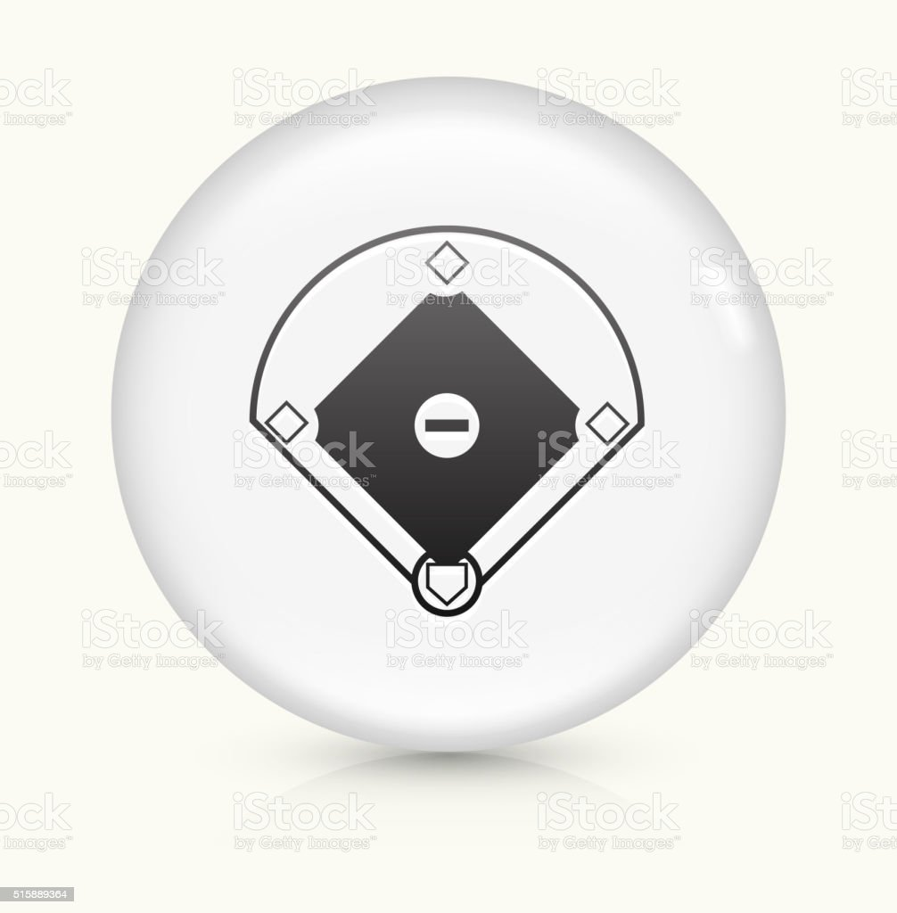 Baseball Field icon on white round vector button vector art illustration