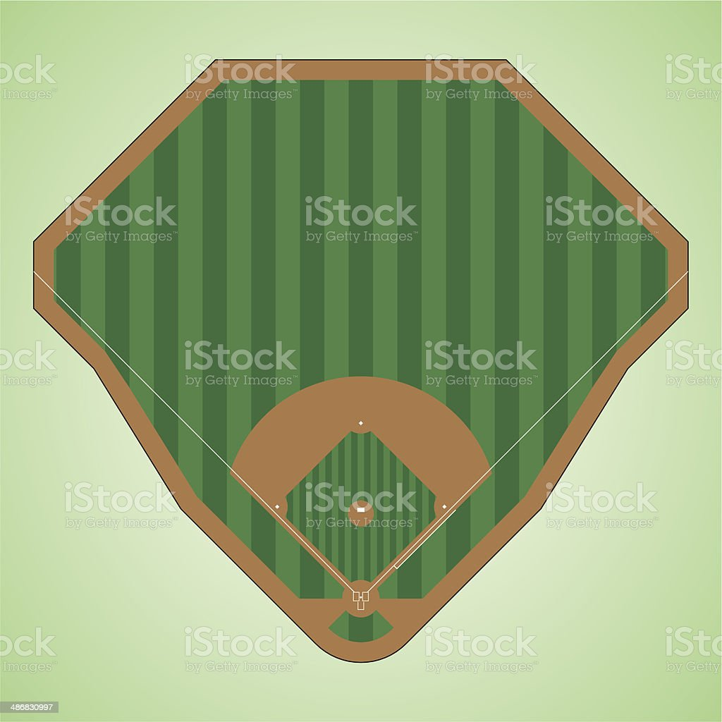 baseball field vector art illustration
