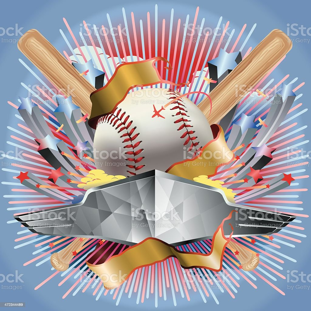 Baseball Game Entertainment Vector vector art illustration