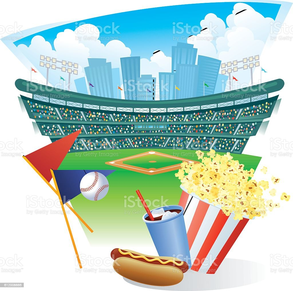 Baseball Game vector art illustration