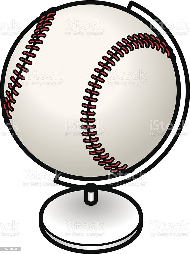 Baseball Globe vector art illustration