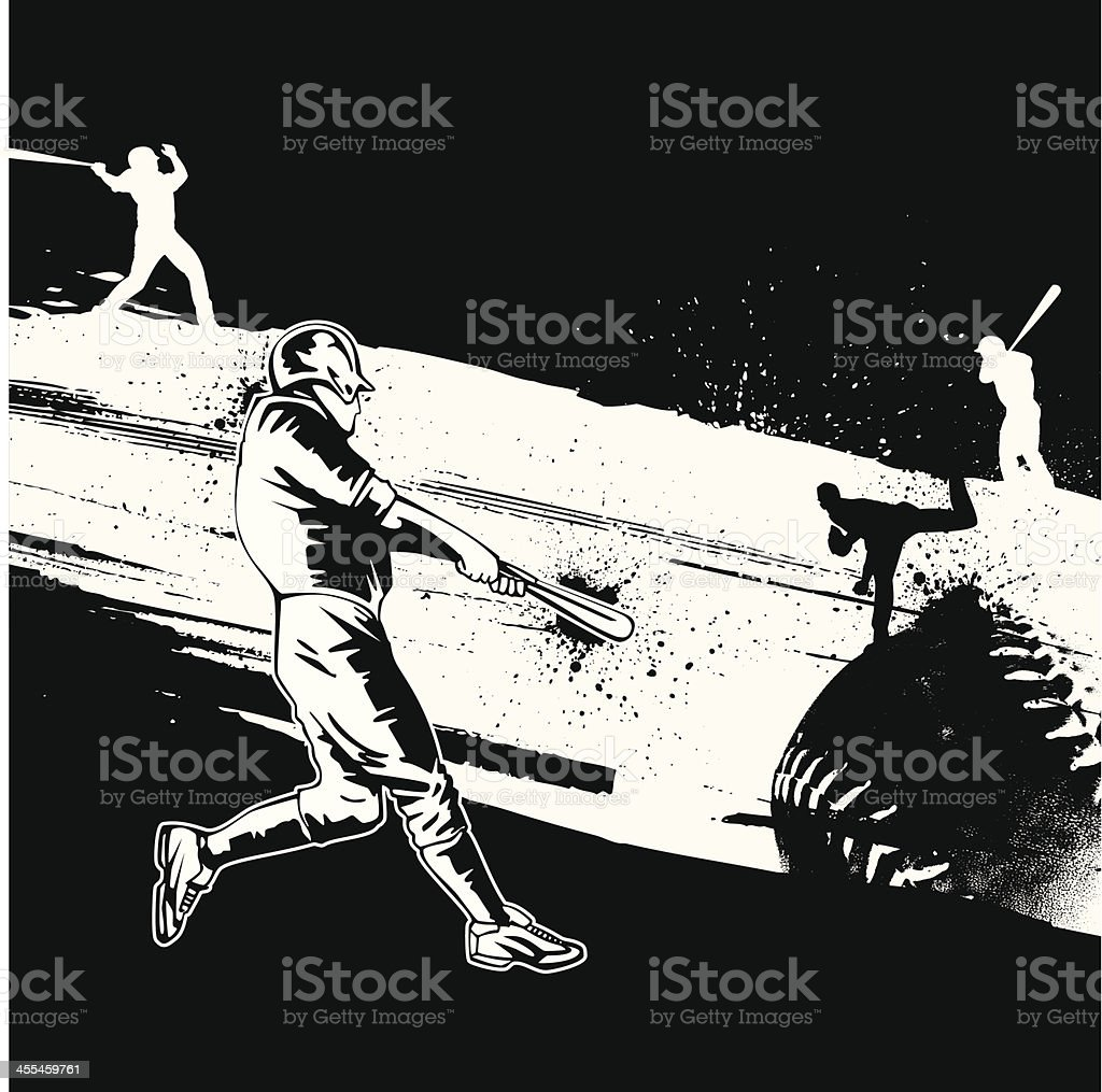 Baseball Grunge Design royalty-free stock vector art
