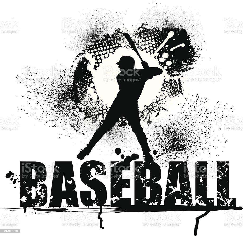 Baseball Grunge Graphic - Batter vector art illustration