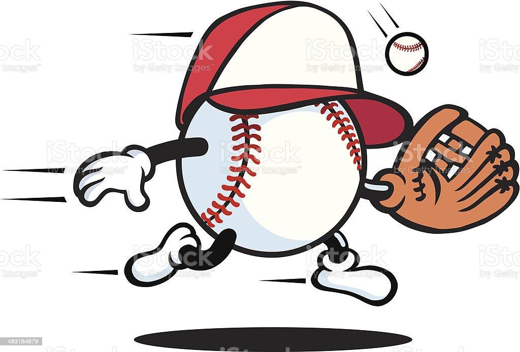 Baseball Guy vector art illustration