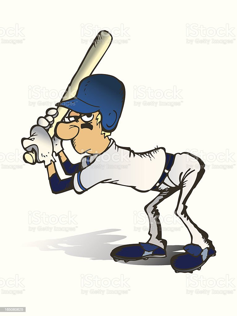 Baseball hitter ready to hit royalty-free stock vector art