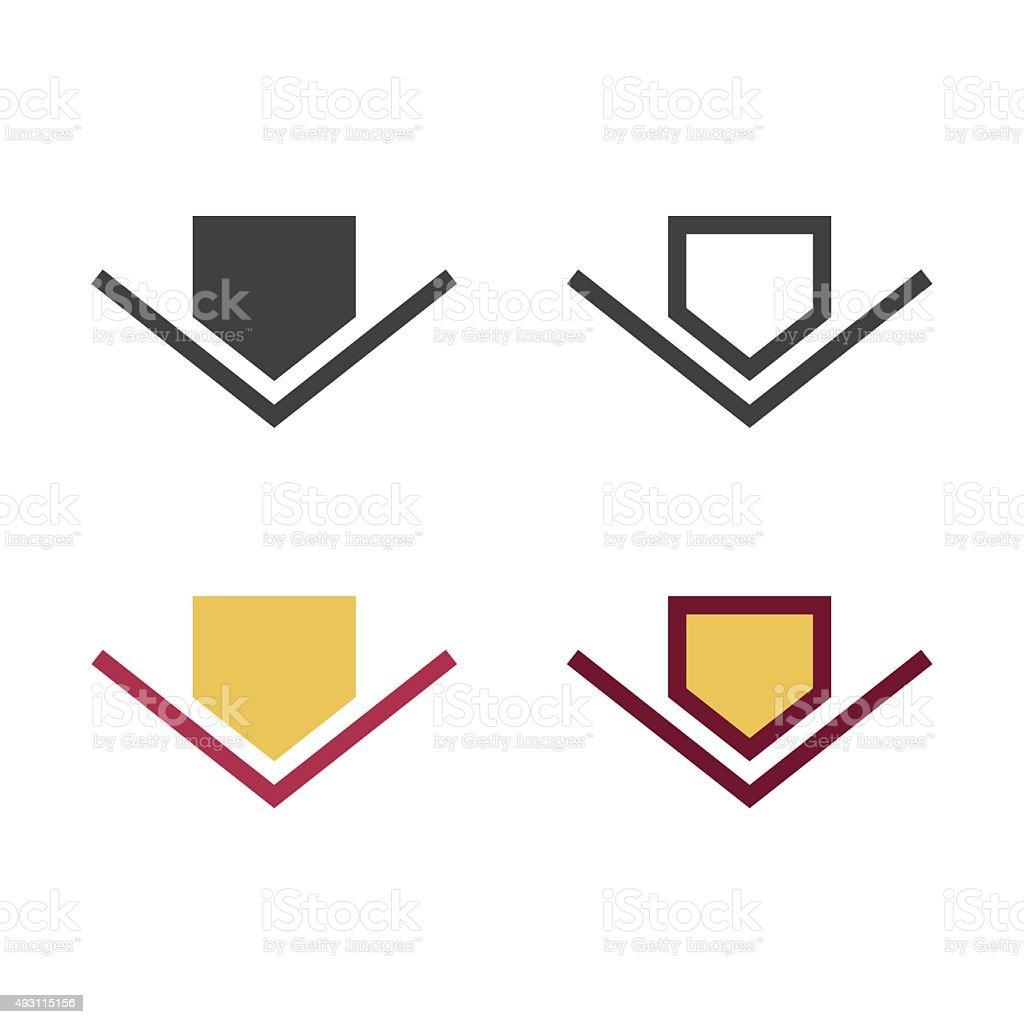 Baseball Home Plate Icon vector art illustration