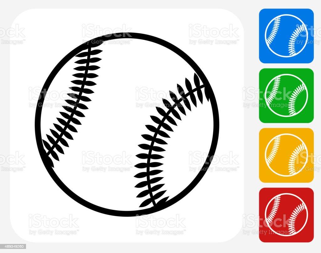 Baseball Icon Flat Graphic Design vector art illustration