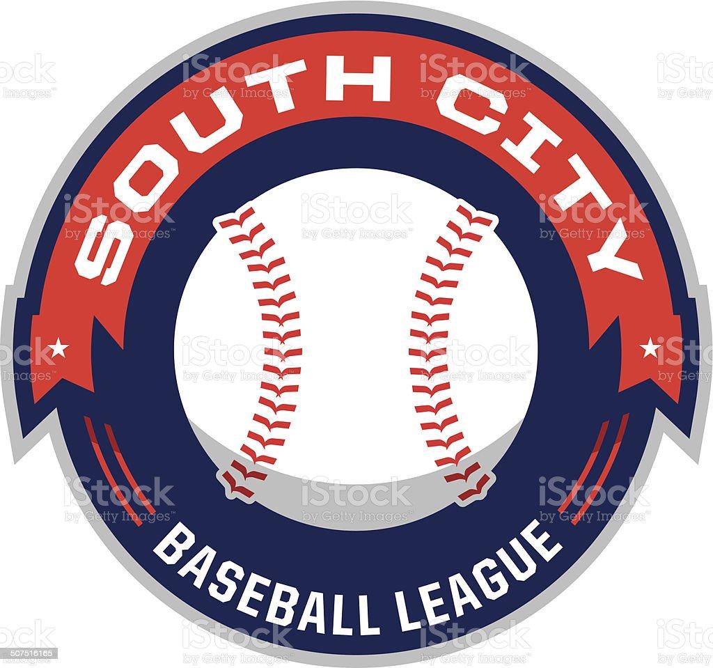 Baseball League Logo vector art illustration