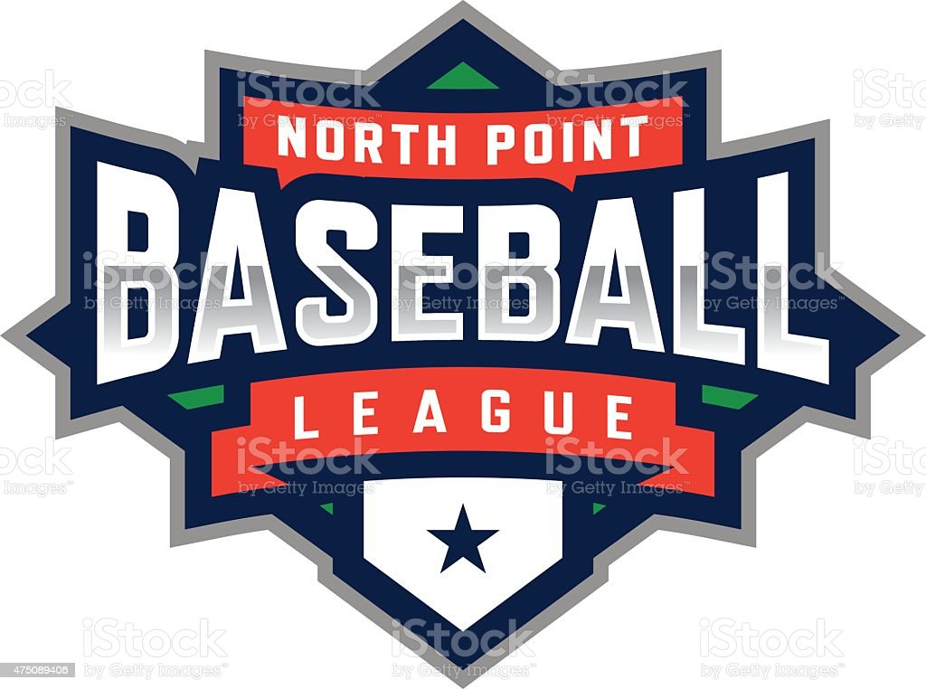 Baseball League vector art illustration