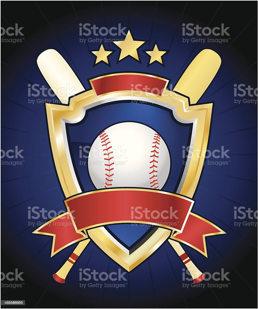 Baseball logo royalty-free stock vector art