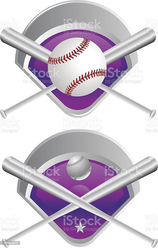 Baseball Medals royalty-free stock vector art