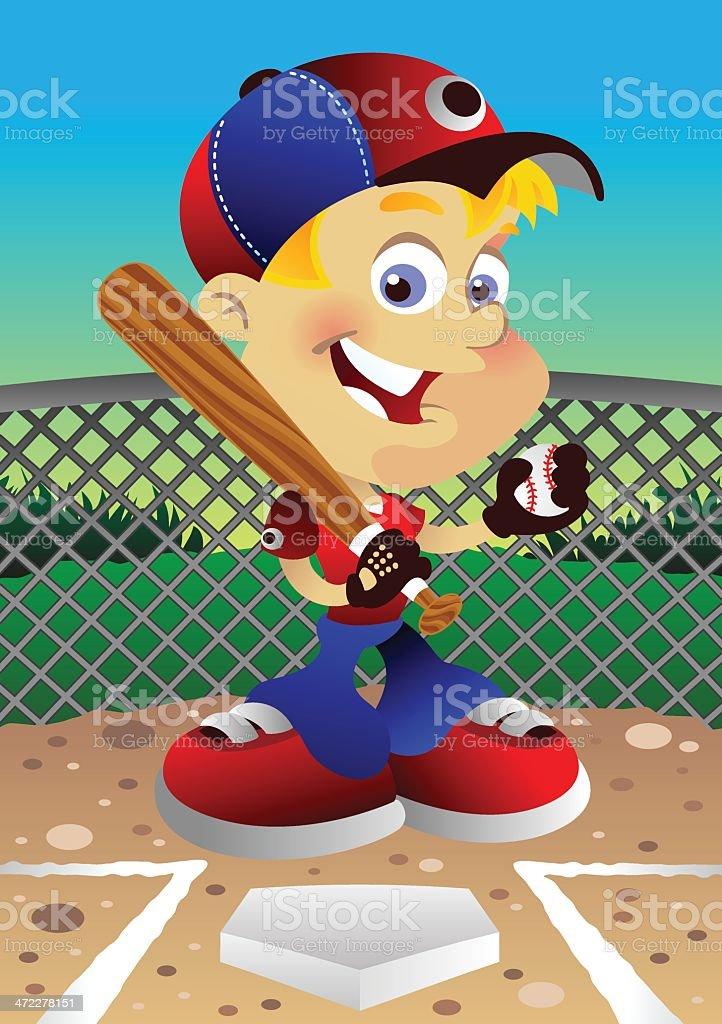 Baseball Payer vector art illustration