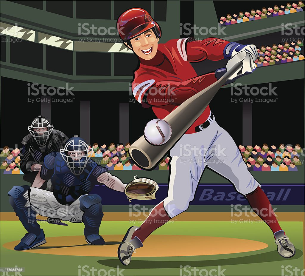 Baseball pitcher throwing the ball royalty-free stock vector art