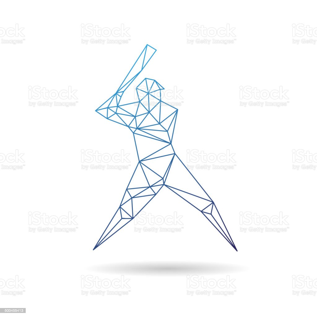 Baseball player abstract isolated on a white background, vector illustration vector art illustration