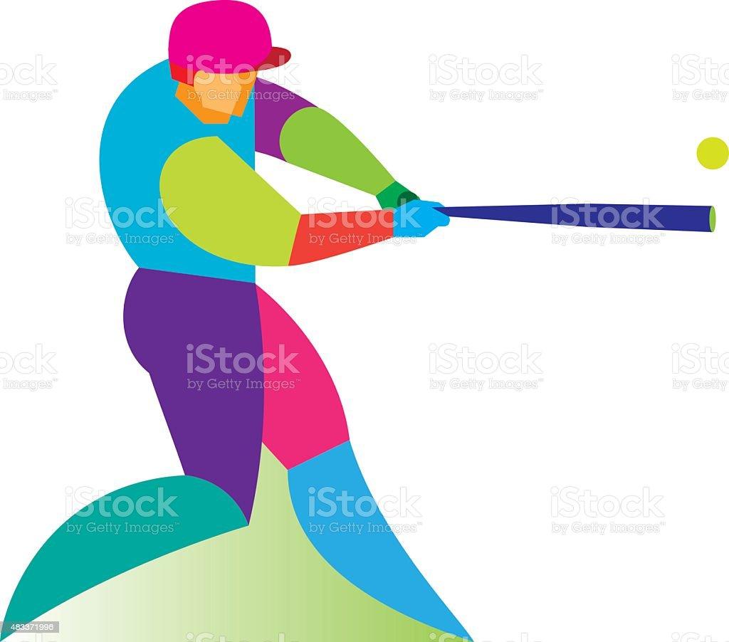 Baseball player. Batter vector art illustration