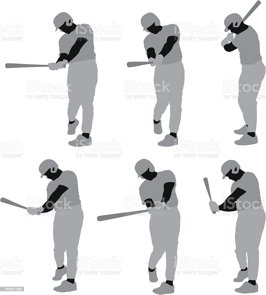 Baseball player in action royalty-free stock vector art
