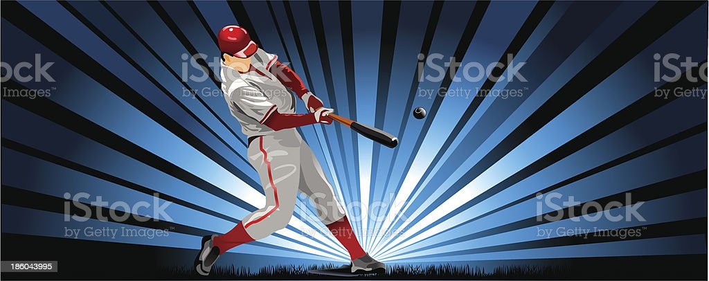 baseball player in red royalty-free stock vector art