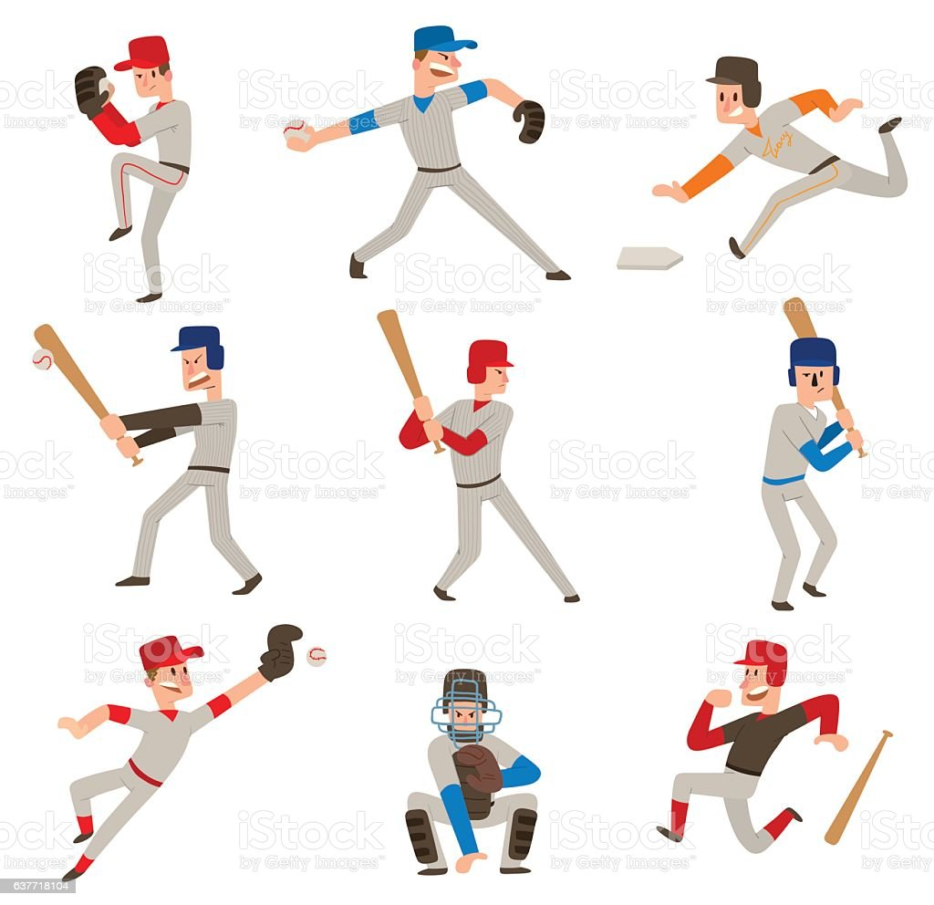 Baseball player vector icon. vector art illustration